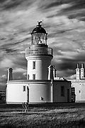 The Chanonry Point Lighthouse on the Black Isle in Scotland.