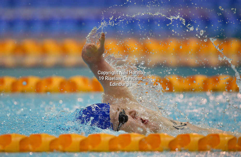 British Para-Swimming International Meet 2016, Tollcross Swimming Centre, Glasgow.<br /> <br /> Event 204 Mens MC 50m Backstroke <br /> <br /> Andrew Mullen<br /> <br />  Neil Hanna Photography<br /> www.neilhannaphotography.co.uk<br /> 07702 246823