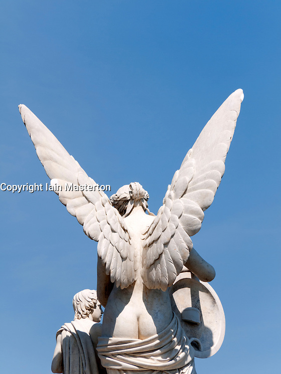 Detail of ornate statue on bridge on Unter den Linden in Mitte Berlin  Germany