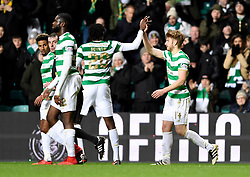 Celtic's Stuart Armstrong celebrates scoring his side's first goal of the game during the Scottish Premiership match at Celtic Park, Glasgow.