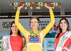09.07.2016, Wien, AUT, Ö-Tour, Österreich Radrundfahrt, 7. Etappe, Bad Tatzmannsdorf nach Wien/Kahlenberg, im Bild Gesamtsieger im gelben Trikot, Jan Hirt (CZE, CCC Sprandi Polkowice) // Overall Winner in the Yellow Jersey Jan Hirt (CZE CCC Sprandi Polkowice) during the Tour of Austria, 7th Stage from Bad Tatzmannsdorf to Vienna/Kahlenberg Wien, Austria on 2016/07/09. EXPA Pictures © 2016, PhotoCredit: EXPA/ JFK