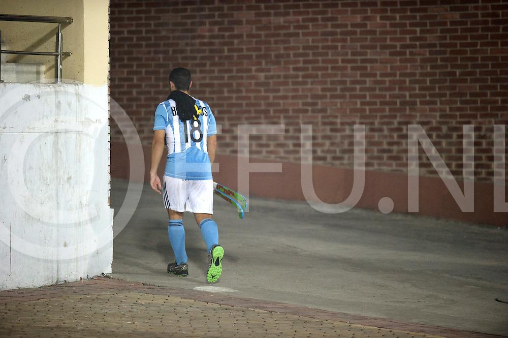 NEW DELHI - Hock World League  Final Men<br /> 15 ARG v NZL (QF3)<br /> Foto: Argentina player Guido BARREIROS goes away after the match.<br /> FFU PRESS AGENCY COPYRIGHT FRANK UIJLENBROEK