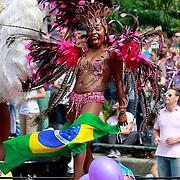 NLD/Amsterdam/20110806 - Canalpride Gaypride 2011, braziliaanse danseres