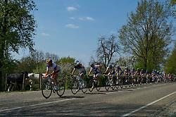 17-04-2011 WIELRENNEN: AMSTEL GOLD RACE: VALKENBURG<br /> Het peloton beklimt de Wolfsberg, vooraan Grischa Niermann GER<br /> ©2011-WWW.FOTOHOOGENDOORN.NL / Peter Schalk