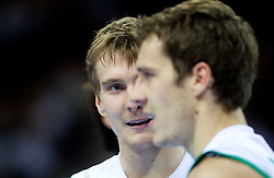 Zoran Dragic of Slovenia and his brother Goran Dragic of Slovenia during basketball game between National basketball teams of Slovenia and Serbia in 7th place game of FIBA Europe Eurobasket Lithuania 2011, on September 17, 2011, in Arena Zalgirio, Kaunas, Lithuania. Slovenia defeated Serbia 72 - 68 and placed 7th. (Photo by Vid Ponikvar / Sportida)