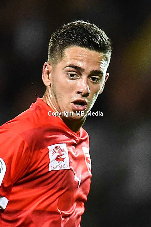 Theo Valls of Nimes during the Ligue 2 game between Lens and Nimes on August 15, 2016 in Nimes, France. (Photo by Alexandre Dimou/Icon Sport )