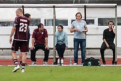 Dusan Kosic head coach and stuff of NK Triglav during football match between NK Triglav Kranj and NK Maribor, 7th Round of Prva Liga, on 24 August, 2013, in Sportni center Kranj, Slovenia. (Photo by Grega Valancic / Sportida)