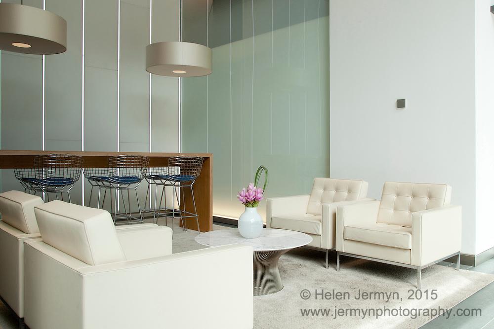 Office reception interior, London