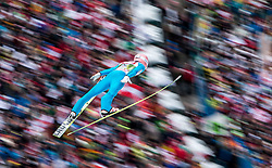 04.01.2015, Bergisel Schanze, Innsbruck, AUT, FIS Ski Sprung Weltcup, 63. Vierschanzentournee, Innsbruck, Probesprung, im Bild Stefan Kraft (AUT) // Stefan Kraft of Austria soars trought the air during his Trial Jump for the 63rd Four Hills Tournament of FIS Ski Jumping World Cup at the Bergisel Schanze in Innsbruck, Austria on 2015/01/04. EXPA Pictures © 2015, PhotoCredit: EXPA/ JFK