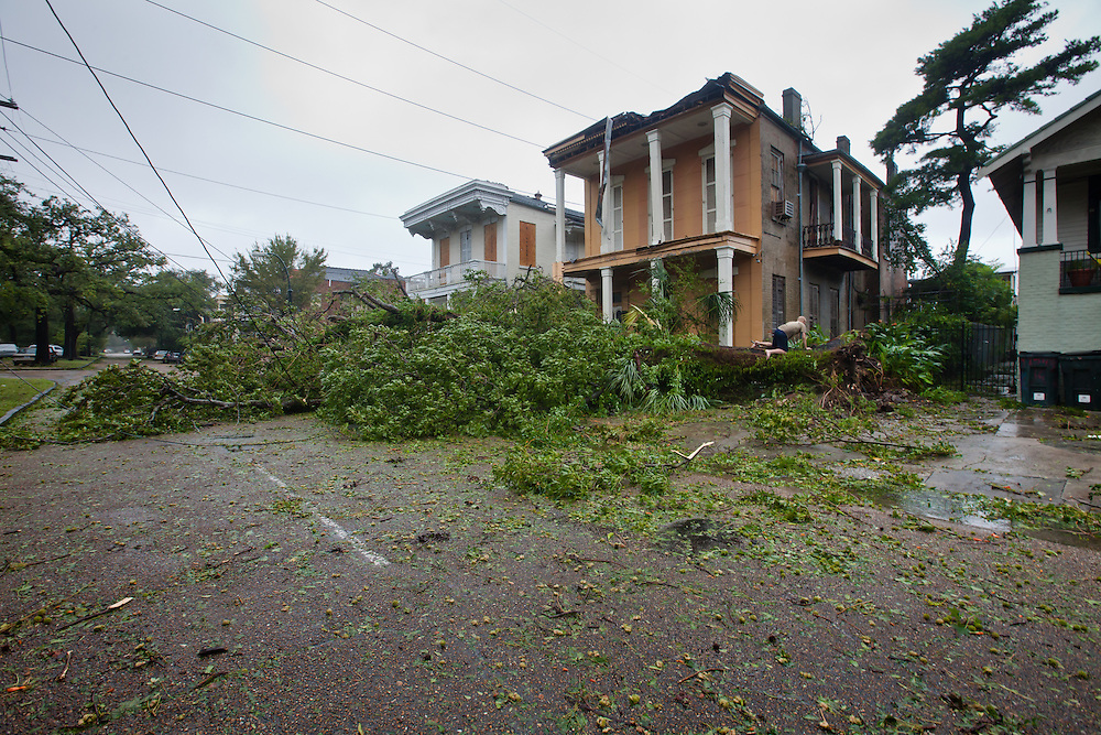 New Orleans Louisiana, August 29th, 2012,  Tree down on Espalnde causing damge to a house.