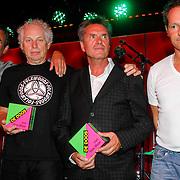 NLD/Amsterdam/20120918 - Cd Box presentatie Doe Maar , Ernst Jansz, Jan Hendriks, Henny Vrienten,René van Collem