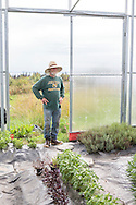 Don McNamara på Oceanside Farms i Homer, Alaska. USA