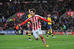 Stoke's Bojan Krkic celebrates his goal which makes it 2 - 0 - Photo mandatory by-line: Dougie Allward/JMP - Mobile: 07966 386802 - 06/12/2014 - SPORT - Football - Stoke - Britannia Stadium - Stoke City v Arsenal - Barclays Premie League