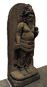 Agastya (character standing on a lotus). 8th 9th century gold sculpture andesite from Java, Indonesia