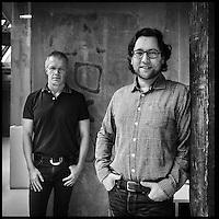 Nederland, Amsterdam, 18 maart 2016.<br />Dinesh Sonak (ADCN) en Lode Schaeffer (INDIE Amsterdam).<br /><br /><br /><br />Foto: Jean-Pierre Jans