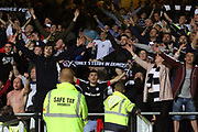 August 9th 2017, Dens Park, Dundee, Scotland; Scottish League Cup Second Round; Dundee versus Dundee United; Dundee fans after their team had beaten Dundee United in the derby
