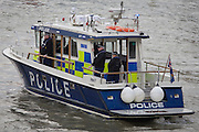 Met Police on their River Thames high-speeed emergency patrol boat.