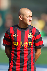 July 16, 2011; San Francisco, CA, USA;  Manchester City midfielder Vladimir Weiss (40) during player introductions before the game against Club America at AT&T Park. Manchester City defeated Club America 2-0.
