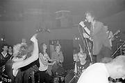 Subhumans on stage, UK, 1980s