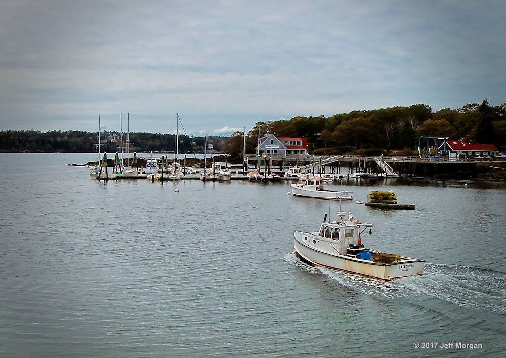 A lobsterman heads out, South Bristol, Maine