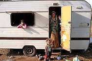 Rome May 14  2008.Rom's camp Casilino 900.Romani family of Bosnians