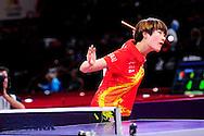 Ning Ding (CHN) face à Zenhua Dederko (AUS) lors des championnats du Monde de tennis de table 2013, le 15 Mai 2013 au POPB.
