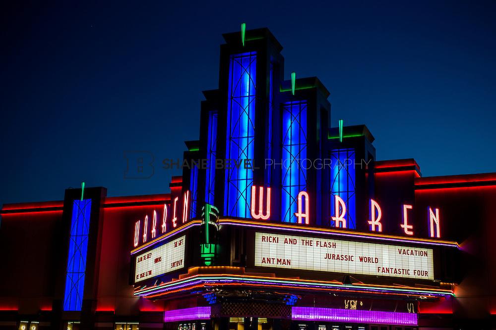 8/10/15 8:43:25 PM --  Exterior photos of the Warren Theatre in Broken Arrow, Oklahoma. <br /> <br /> Photo by Shane Bevel