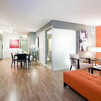 Architectural Photography of the Verve's plan B and plan C show suites.