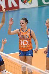 08-10-2006 VOLLEYBAL: SUPERCUP DELA MARTINUS - PLANTINA LONGA: DOETINCHEM<br /> Martinus wint vrij eenvoudig met 3-0 van Longa en pakt de Supercup / Janneke van Tienen<br /> ©2006: WWW.FOTOHOOGENDOORN.NL