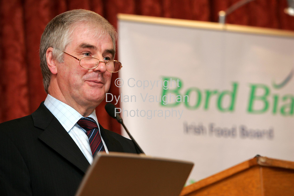 10/1/2004.Pictured at Bord Bia's National Producer Conference in Tullamore yesterday was  John Browne, T.D., Minister of State at the Department of Agriculture..The con ference provided information on animal requirements in different European markets with prospects and specifications for each region.Speakers also examined UK supermarket requirements and the role of Quality Assurance in marketing Irish beef and lamb..Picture Dylan Vaughan