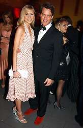 MATTHEW MELLON and NOELLE RENO at Andy & Patti Wong's Chinese New Year party to celebrate the year of the Rooster held at the Great Eastern Hotel, Liverpool Street, London on 29th January 2005.  Guests were invited to dress in 1920's Shanghai fashion.<br /><br />NON EXCLUSIVE - WORLD RIGHTS
