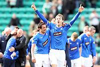 Football - Scottish Premier League - Hibs vs Rangers<br /> <br /> <br /> Rangers win 2009 - 2010 SPL<br /> <br /> Rangers Nacho Novo and sasa papac