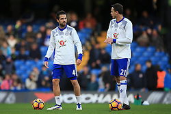 Cesc Fabregas of Chelsea chats with Nemanja Matic of Chelsea as thy warm up - Mandatory by-line: Jason Brown/JMP - 26/12/2016 - FOOTBALL - Stamford Bridge - London, England - Chelsea v Bournemouth - Premier League