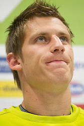 Valter Birsa during press conference of Slovenia National football team at  Hyde Park High School Stadium on June 21, 2010 in Johannesburg, South Africa.  (Photo by Vid Ponikvar / Sportida)