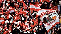 Fotball , 30. mars 2019 ,  Eliteserien , Odd - Brann 2-3<br /> illustrasjon , fan , fans , tilskuere Brann , , flagg
