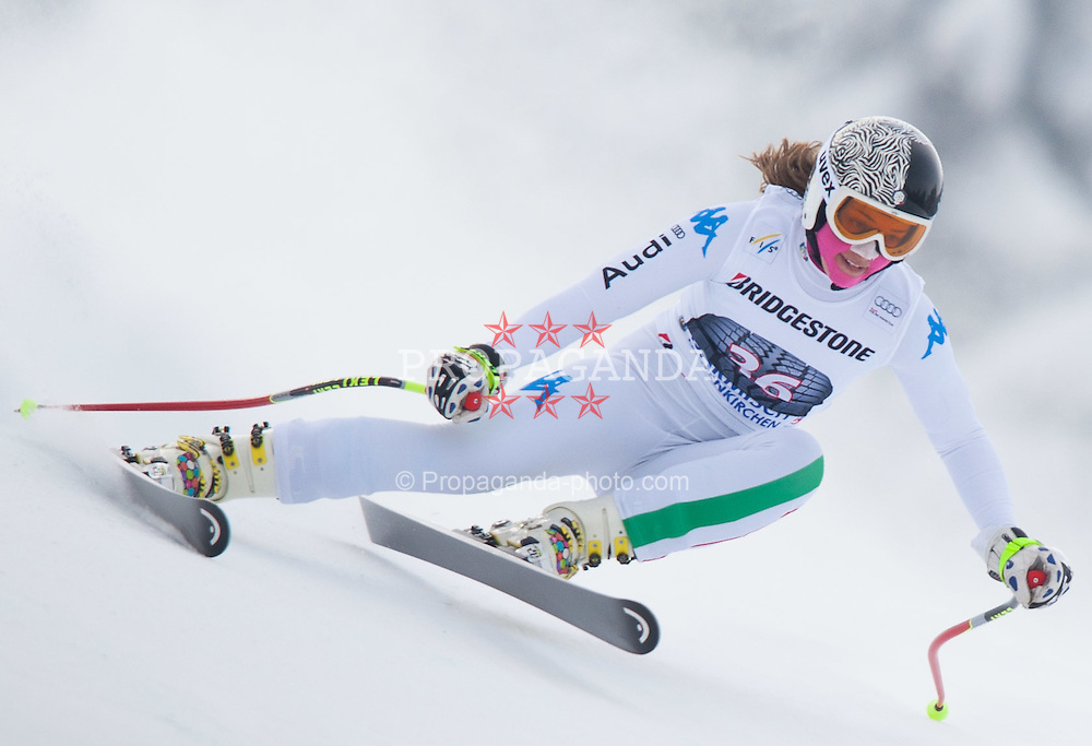 04.02.2012, Kandahar, Garmisch Partenkirchen, GER, FIS Weltcup Ski Alpin,  Damen, Abfahrt, im Bild Camilla Borsotti (ITA) // Camilla Borsotti of Italy during Downhill race of FIS Ski Alpine World Cup at 'Kandahar' course in Garmisch Partenkirchen, Germany on 2012/02/04. EXPA Pictures © 2012, PhotoCredit: EXPA/ Johann Groder