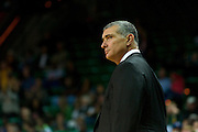 WACO, TX - NOVEMBER 12: South Carolina Gamecocks head coach Frank Martin looks on against the Baylor Bears on November 12, 2013 at the Ferrell Center in Waco, Texas.  (Photo by Cooper Neill/Getty Images) *** Local Caption *** Frank Martin