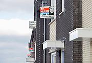 Nederland, Nijmegen, 27-2-2013Nieuwbouwhuizen staan te huur in de vinexwijk Waalsprong in Lent.Foto: Flip Franssen/Hollandse Hoogte