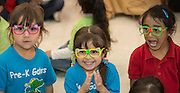 Students participate in a pep rally to energize for STAAR testing at Garcia Elementary School, March 27, 2014.