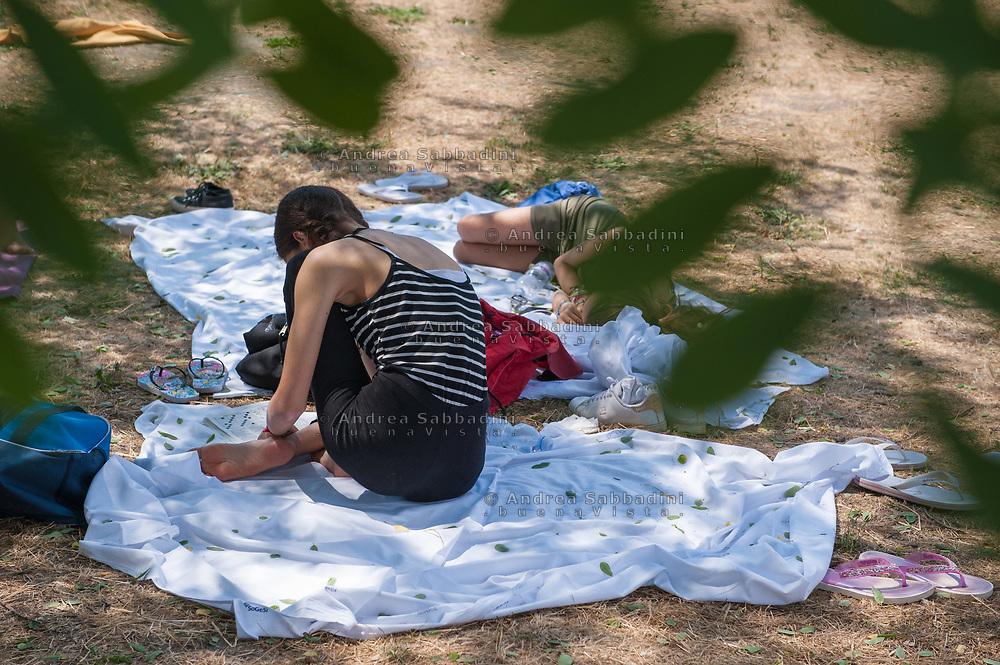 Roma, 06/07/2018: Reparto di Neuro Psichiatria Infantile dell'Umberto I in gita al Lago di Martignano.<br /> &copy; Andrea Sabbadini