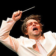 July 17, 2012 - New York, NY : Conductor Andrey Boreyko leads the New York Philharmonic in Johannes Brahms's 'Symphony No. 1 in C minor, Op. 68 (1862-76)' in Central Park on Monday evening. CREDIT: Karsten Moran for The New York Times