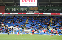 empty seats in the Cardiff city Stadium.  - Photo mandatory by-line: Alex James/JMP - Tel: Mobile: 07966 386802 22/02/2014 - SPORT - FOOTBALL - Cardiff - Cardiff City Stadium - Cardiff City v Hull City - Barclays Premier League