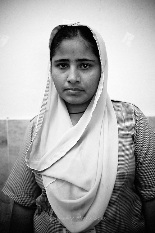 Ufaq Zafr, 24 years old, studies midwifery because her mother wanted her to. She hopes to help reduce maternal mortality.