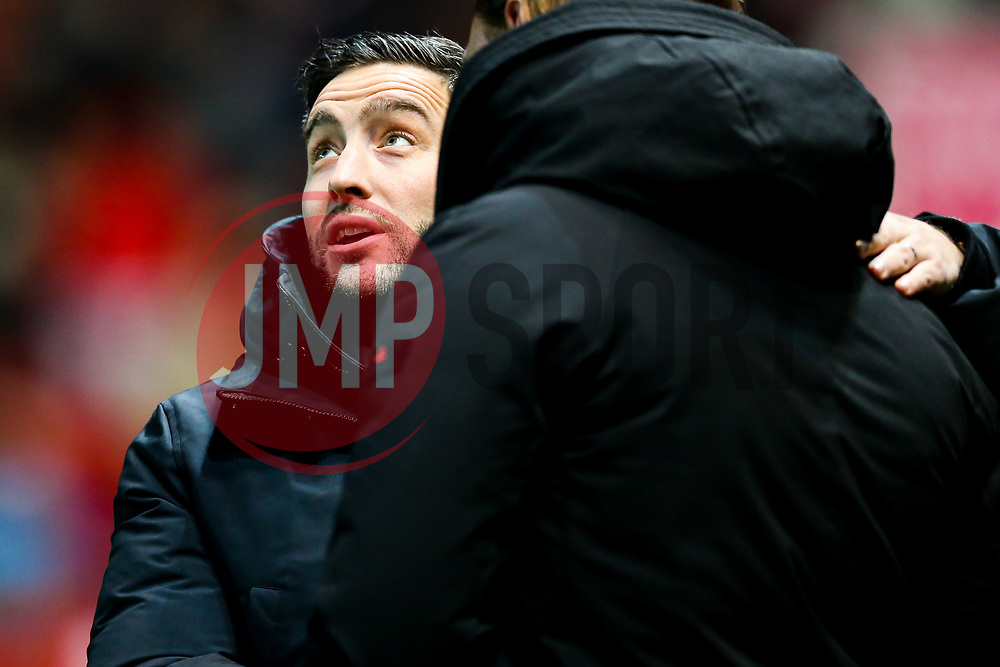 Bristol City manager Lee Johnson greets Norwich City manager Daniel Farke - Rogan/JMP - 15/12/2018 - Ashton Gate Stadium - Bristol, England - Bristol City v Norwich City - Sky Bet Championship.
