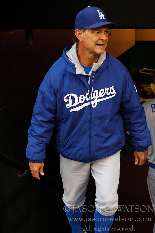 SAN FRANCISCO, CA - MAY 20:  Don Mattingly #8 of the Los Angeles Dodgers enters the dugout before the game against the San Francisco Giants at AT&T Park on May 20, 2015 in San Francisco, California.  The San Francisco Giants defeated the Los Angeles Dodgers 4-0. (Photo by Jason O. Watson/Getty Images) *** Local Caption *** Don Mattingly