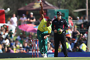 Lungi Nidi during the International T20 match between South Africa and England at Supersport Park, Centurion, South Africa on 16 February 2020.
