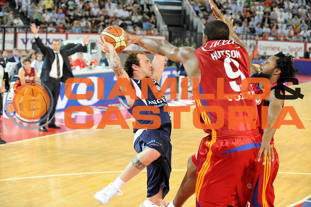 DESCRIZIONE : Roma Lega A 2008-09 Playoff Quarti di finale Gara 1 Lottomatica Virtus Roma Angelico Biella<br /> GIOCATORE : Valerio Spinelli<br /> SQUADRA : Angelico Biella<br /> EVENTO : Campionato Lega A 2008-2009 <br /> GARA : Lottomatica Virtus Roma Angelico Biella<br /> DATA : 18/05/2009<br /> CATEGORIA : Equilibrio<br /> SPORT : Pallacanestro <br /> AUTORE : Agenzia Ciamillo-Castoria/G.Ciamillo