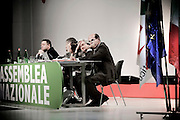 ROMA. PIERLUIGI BERSANI SEGRETARIO DEL PARTITO DEMOCRATICO ALL'ASSEMBLEA GENERALE