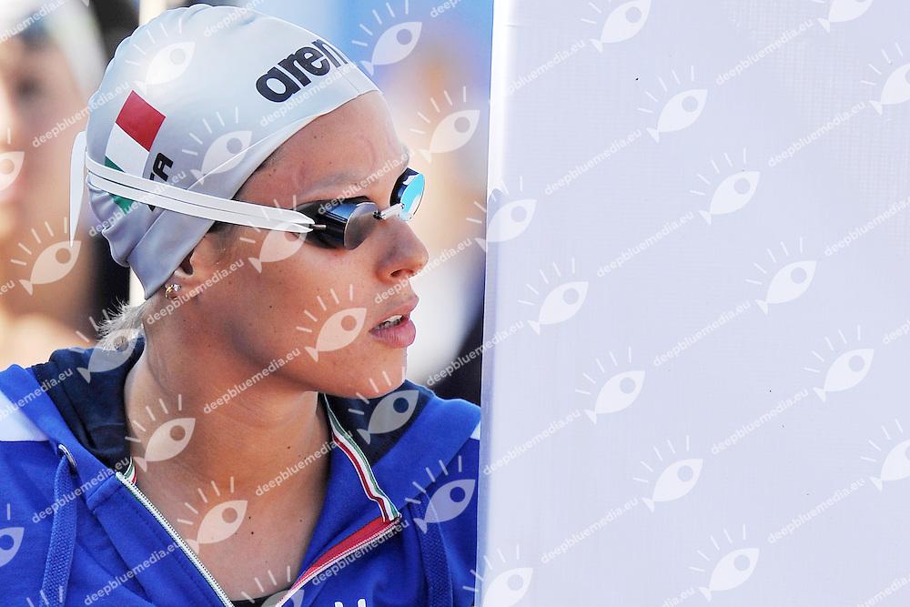 Federica Pellegrini<br /> 400m Freestyle Women<br /> Roma 13/6/2013 Piscina del Foro Italico <br /> Nuoto 50mo trofeo Settecolli<br /> Settecolli 50th International swimming trophy <br /> Foto Antonietta Baldassarre Insidefoto