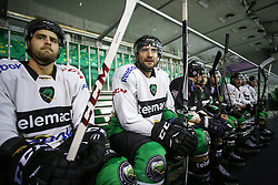 Stefan Chaput and Guillaume Desbiens at first practice session of HDD Telemach Olimpija in Hala Tivoli for season 2015/16, on August 19, 2015 in Hala Tivoli at Ljubljana, Slovenia. (Photo by Matic Klansek Velej / Sportida.com)